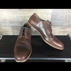 Johnston & murphy dark brown durbys size 9.5